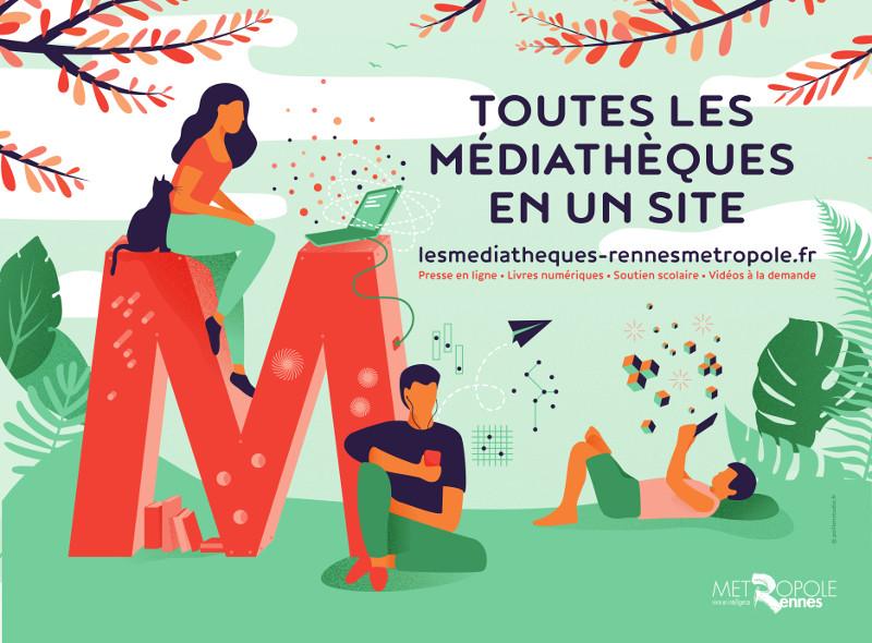 Logo les médiathèques